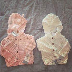 2 Carter's Newborn sweaters